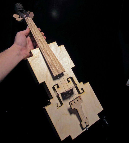 Playable 8 Bit Violin
