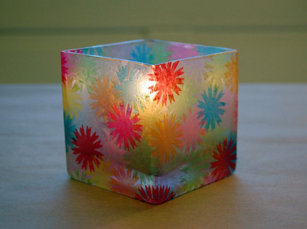 """How-To: """"Stained Glass"""" Votive Holders"""