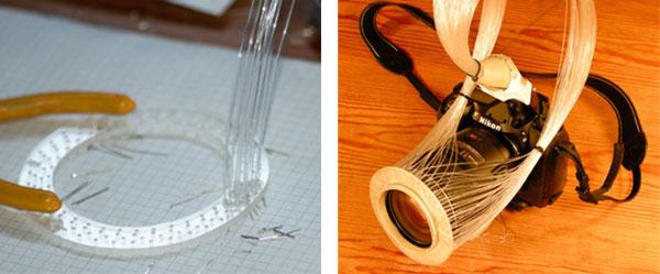 DIY Ring Flash from Optical Fiber