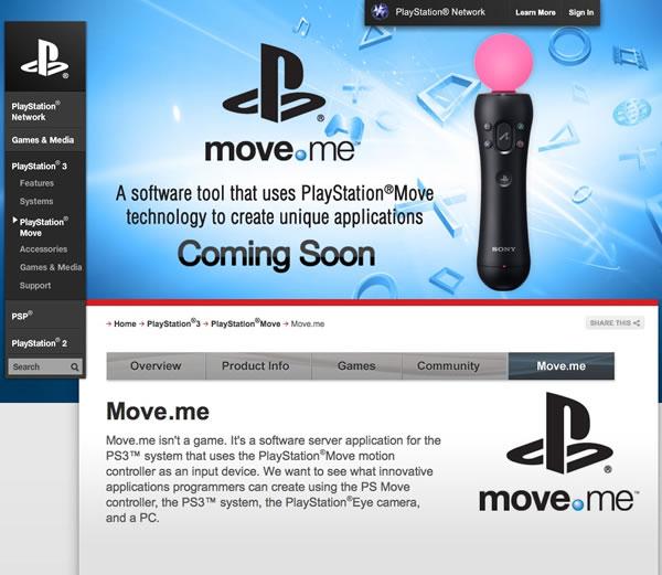 Sony wants hackers – PlayStation Move SDK coming…