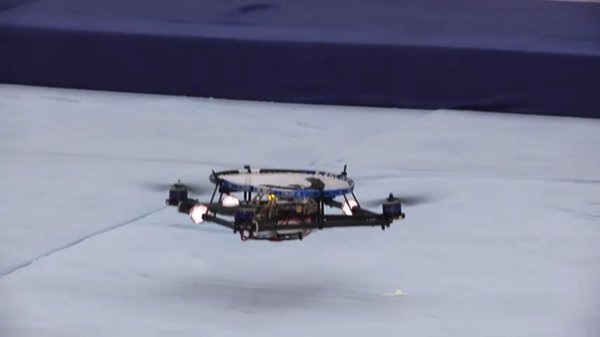 Quadrotor Drones Playing Catch