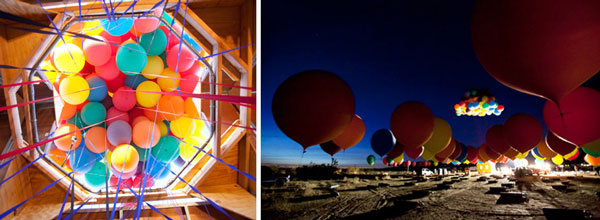 """Real Life """"Up"""" House Lifted by Balloons"""