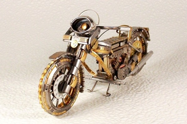Motorcycles Made From Watch Parts