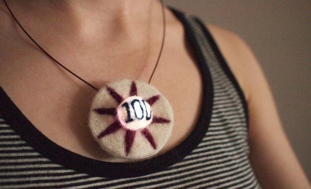 Felt & LED Pinball Bumper Necklace