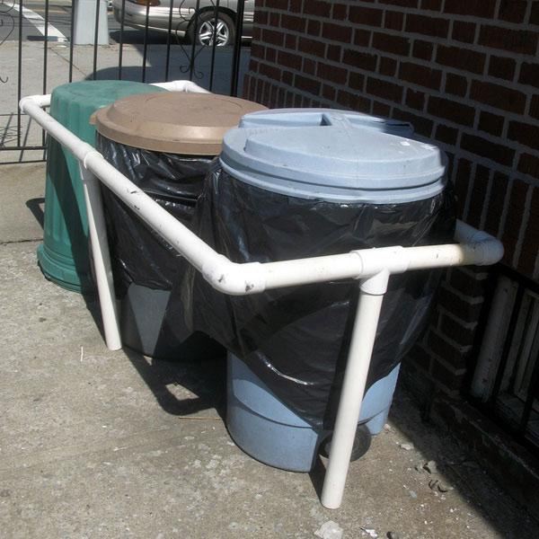 PVC Pipe Garbage Corral