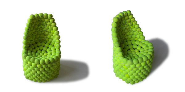 Furniture Made From Close-Packed Tennis Balls