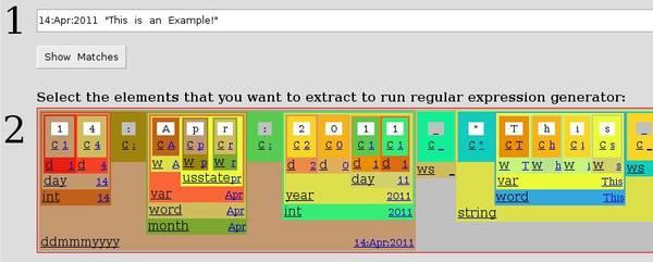Free Web Accessible Visual Regular Expression Generator