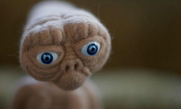 Needle Felted E.T.