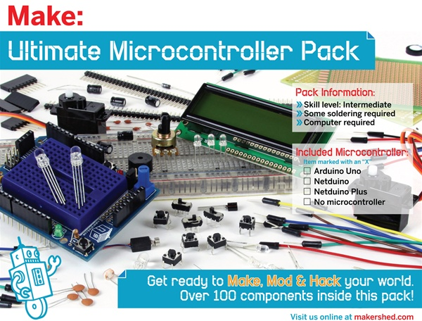 New in the Maker Shed: Ultimate Microcontroller Pack