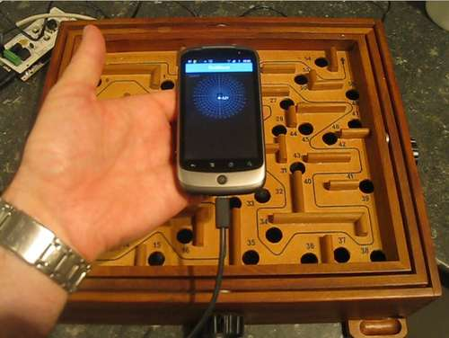 Android ADK-Powered Ball Maze