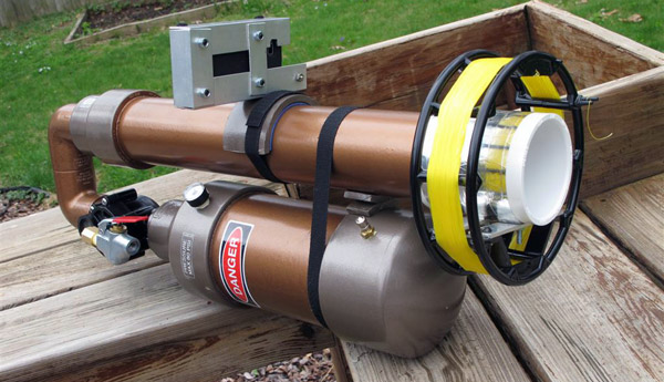 Pneumatic Antenna Launcher uses Android, Free App for AR Scope