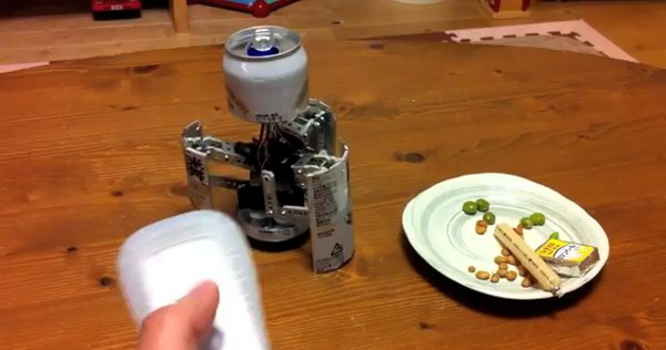 Beer Can Bot Has Devious Disguise
