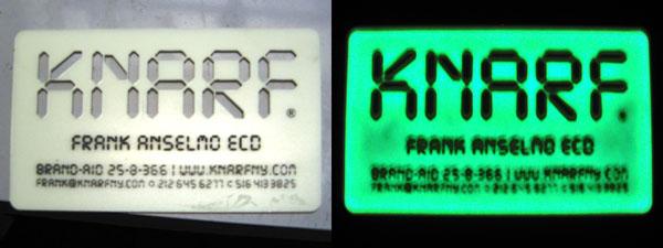 Laser Cutting Glow-in-the-dark Plastic