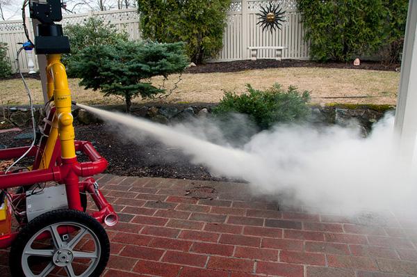 FireBot, an Extinguisher-Wielding Robot