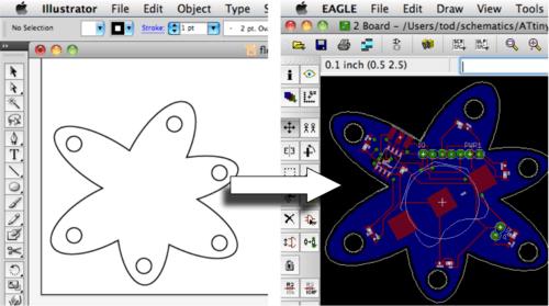 Adding Vector Graphics to Eagle PCB