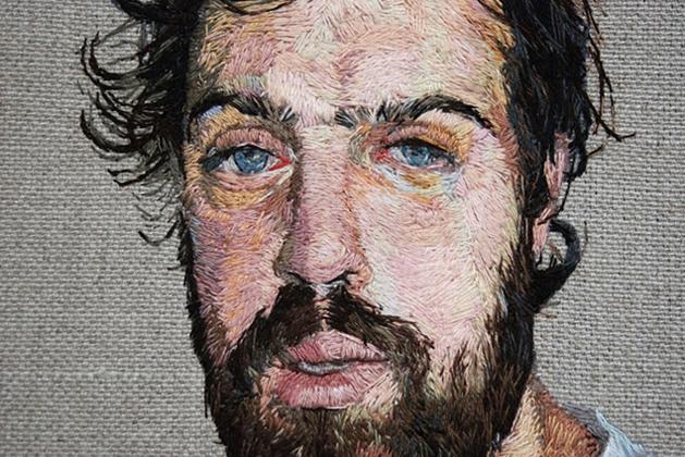 Daniel Kornrumpf's Embroidered Portraits