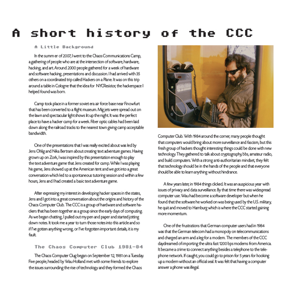 A History of the Hackerspace Movement, Circa 2008