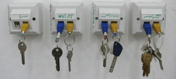 A True Geek's Keychain Rack