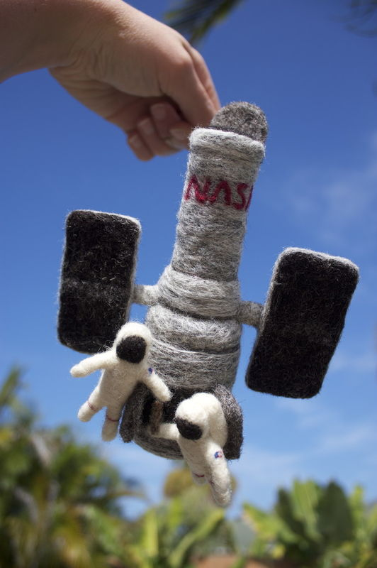 Needle-Felted Hubble Space Telescope