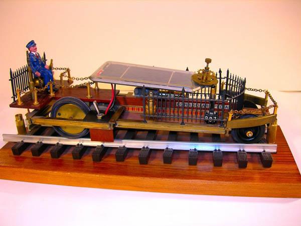 Turning a Tamiya Solar Car into a Steampunky Train