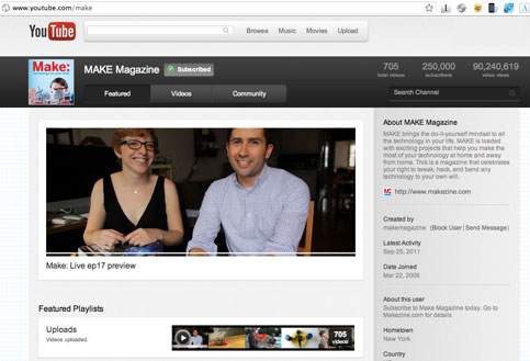 MAKE has 250K YouTube Subscribers!