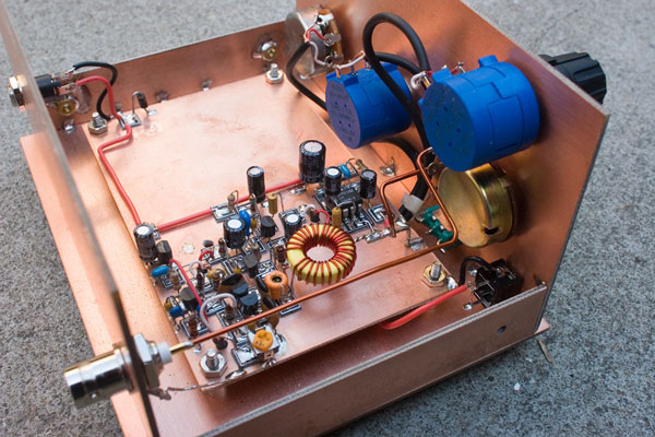 Manhattan-Style Circuit in a Copper Cladding Chassis