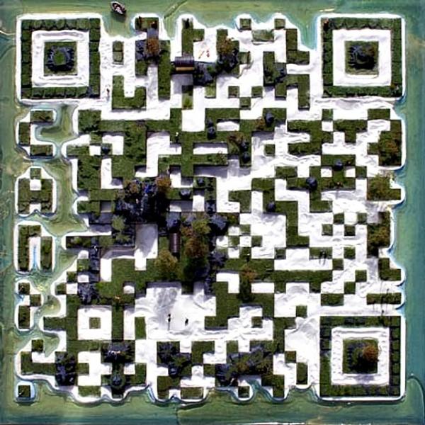 QR Code Island Concept