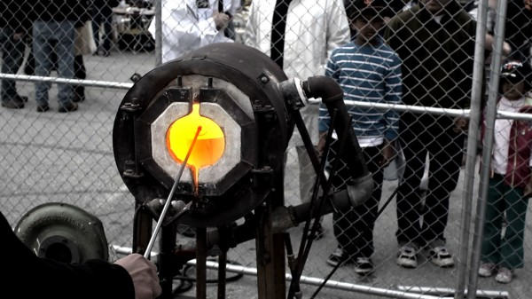 Glass Blowing Demonstrations by The Crucible