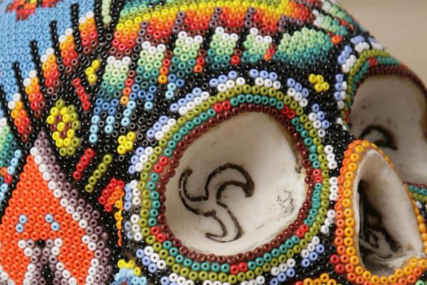 Colorful Beaded Skulls