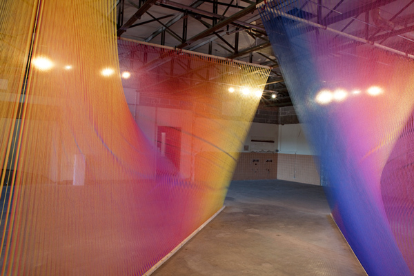 Diaphanous Multicolor Thread Windings