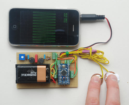 Build a Galvanic Skin Response Sensor for the iPhone