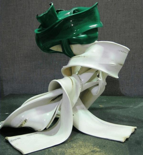 Sculpture from PVC Scrap