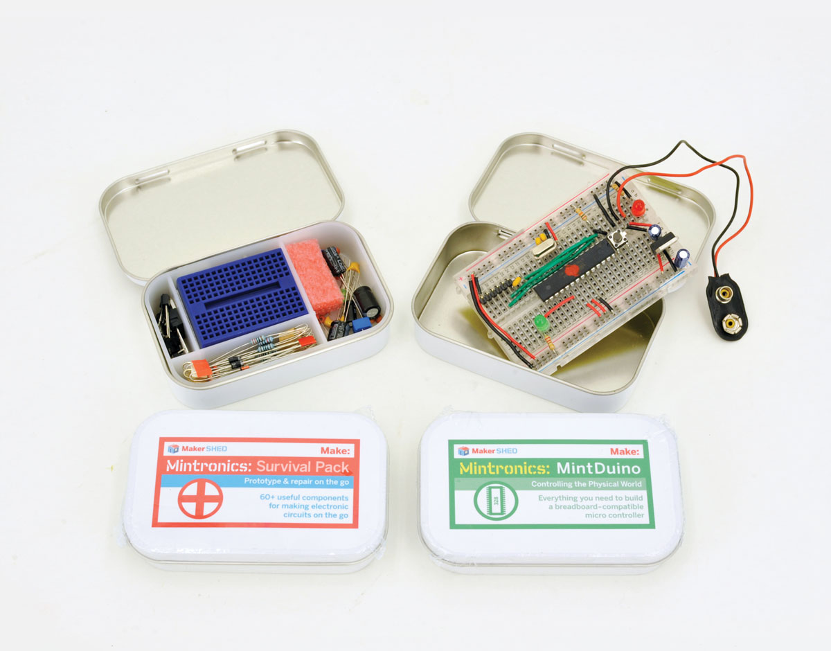 Mintronics Bundle Mintduino Survival Pack Make Build Electronic Circuits