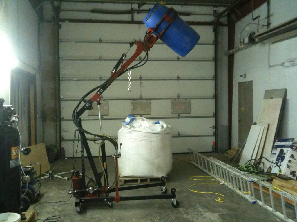 Space Bug, a Hydraulic Barrel Grabber