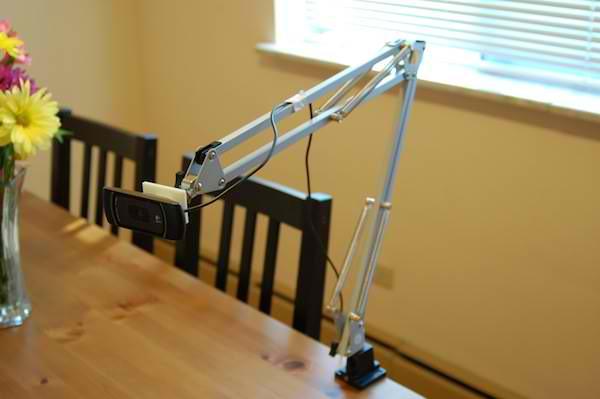 DIY Webcam Arm from IKEA Lamp