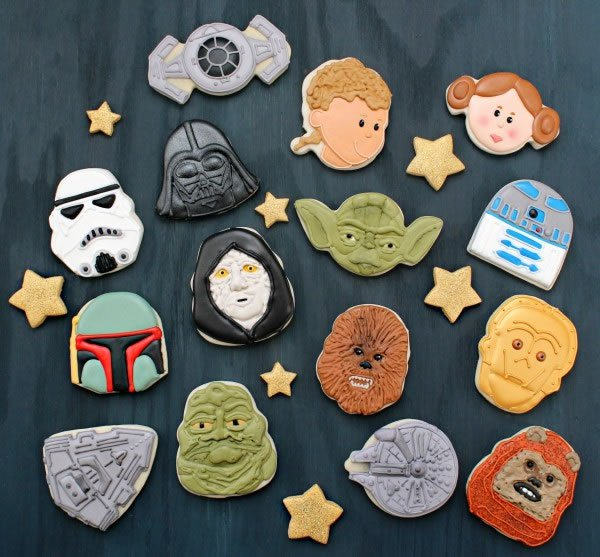 Amazing Star Wars Cookies From Holiday Cookie Cutters