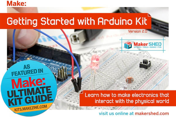 Kit-A-Day Giveaway: Getting Started w/Arduino Kit V3.0and Getting Started w/Arduino Book 2nd Ed