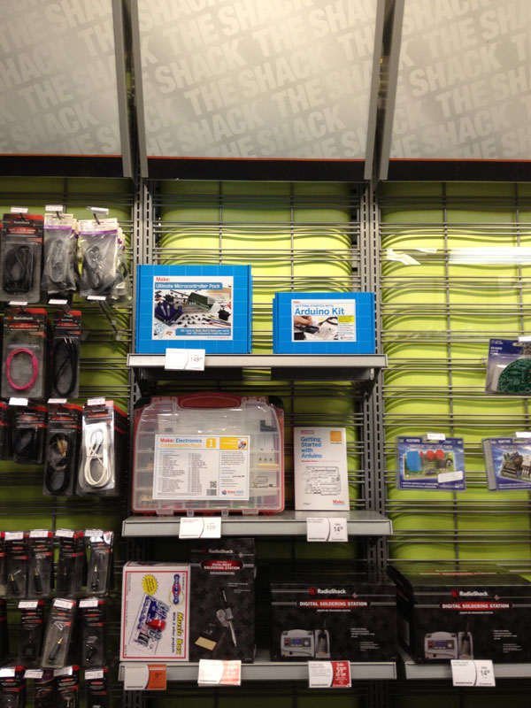 Now at a RadioShack Near You: Maker Shed Merch!