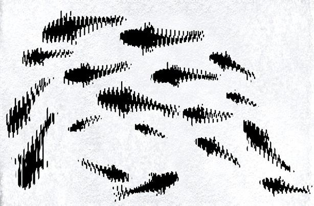 """Swimming Koi"" Scanimation Table / Rug Illusion"