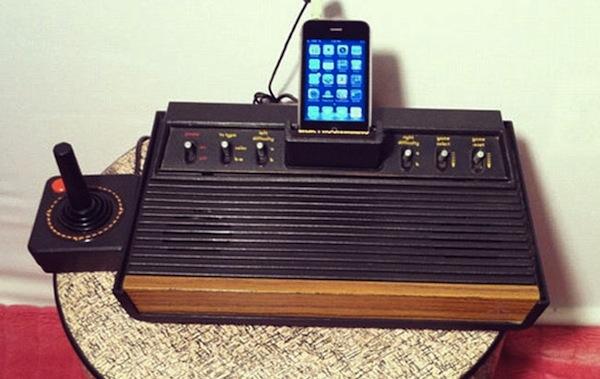 iPhone Speaker Dock from Atari 2600