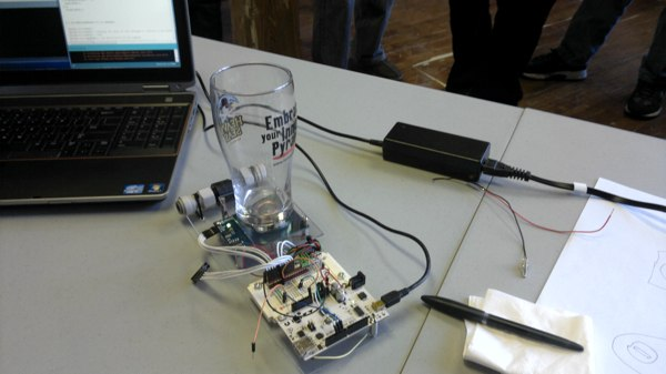 Last Weekend's Betaspring Hackathon: Netduinos, Arduinos, and Hungry Hippos