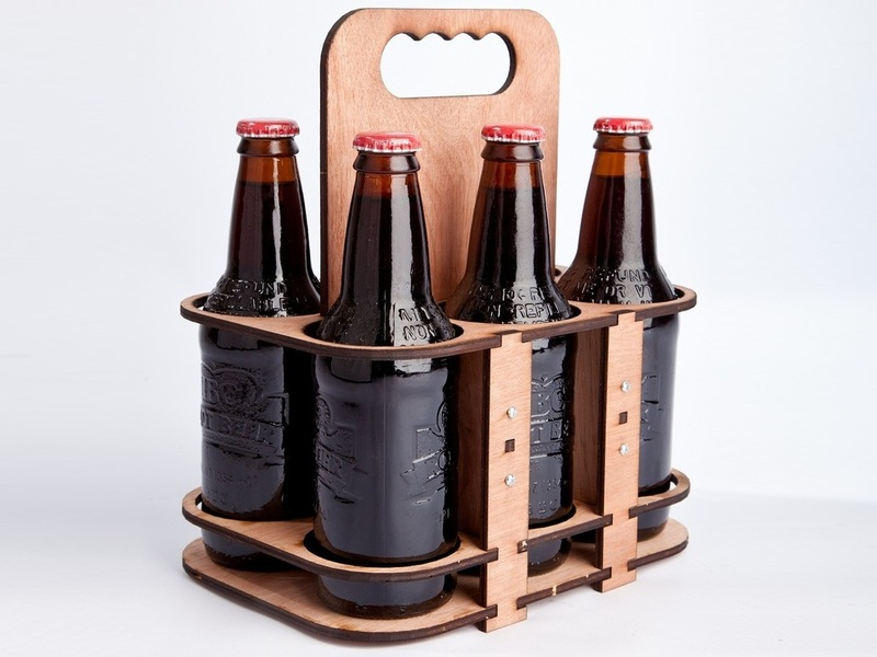 Cut Your Own Wooden Six Pack Holder