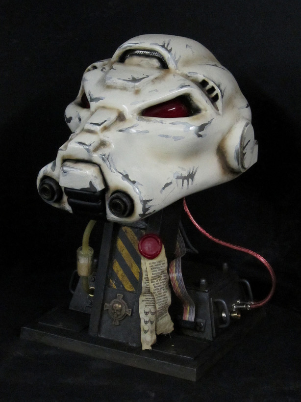 Space Marine Helm Started as Paper Model