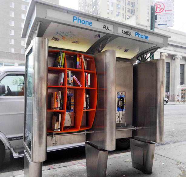 Phone Booth Fit With Free Take/Leave Shelves