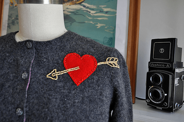 How-To: Cupid's Arrow Sweater Embellishment