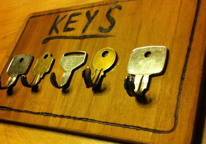 Key Rack from Bent Keys