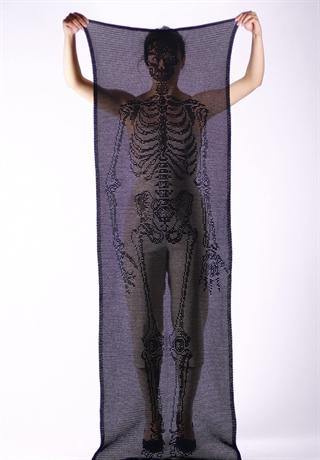 Crocheted Skeleton Scarf