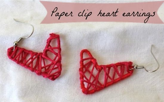 How-To: Paperclip Heart Earrings