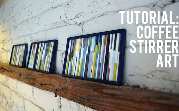 How-To: Coffee Stirrer Wall Art
