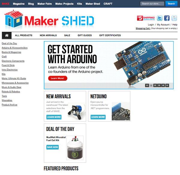 Maker Shed Site Refresh